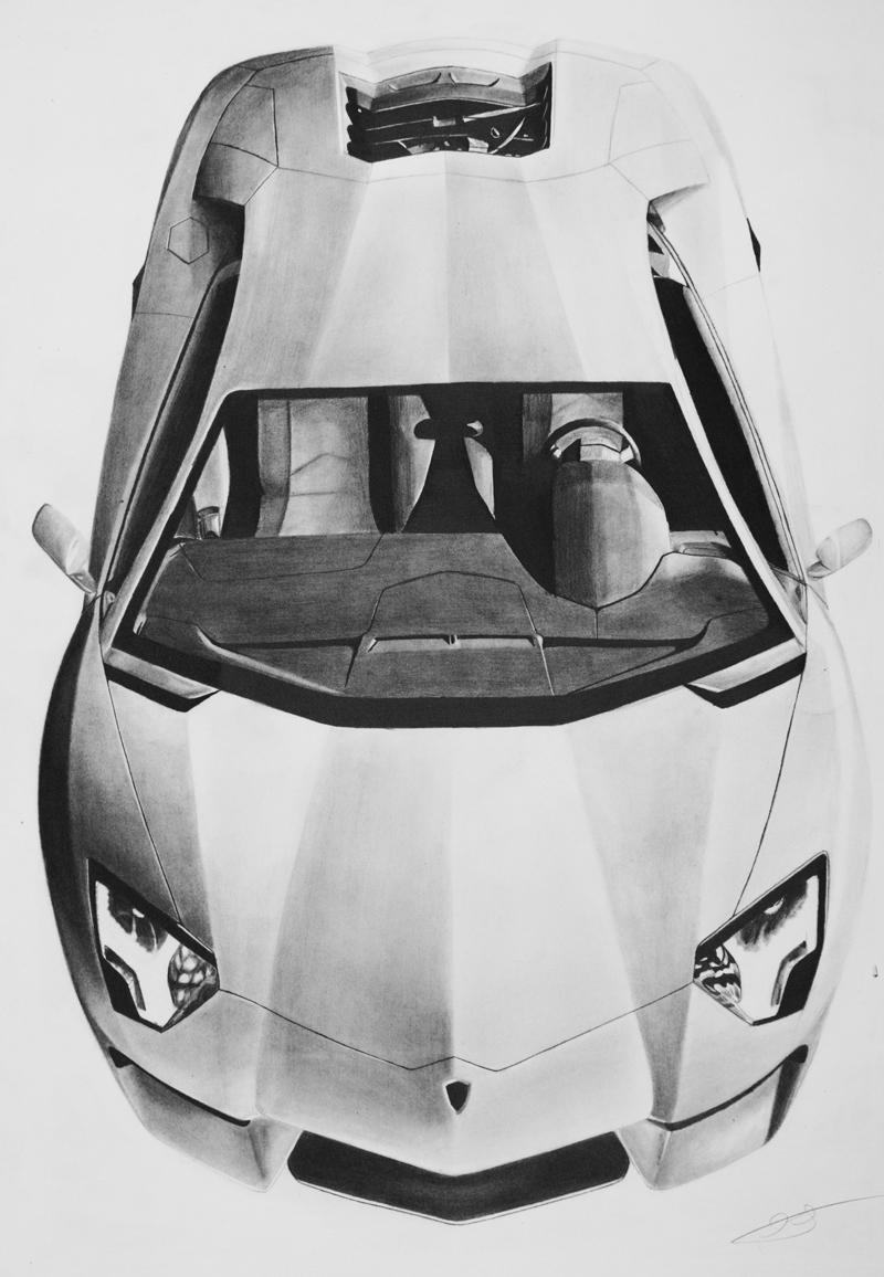 Lamborghini Aventador Drawing Autemo Com Automotive Design Studio